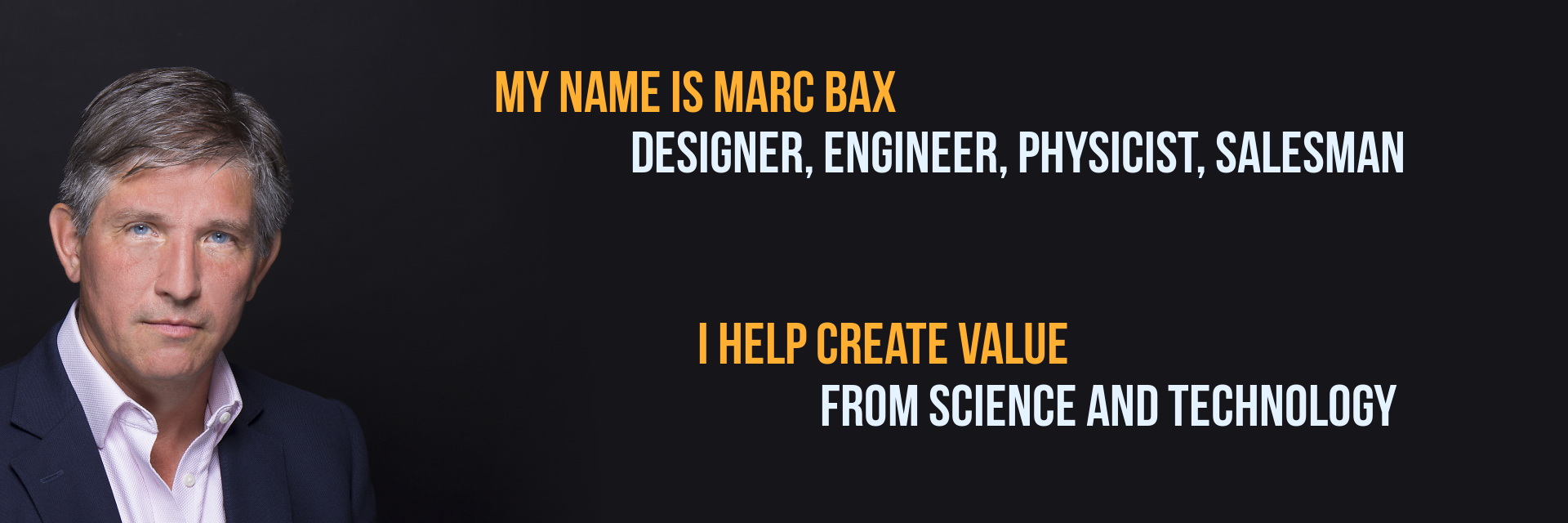 I'm Marc Bax and I do product design and development